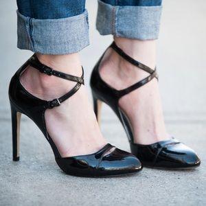 Zara Basic Patent Leather Double Strap Pumps
